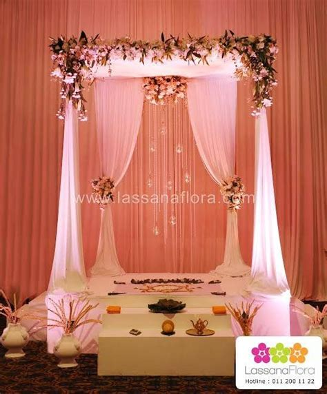 decor done by lassana flora poruwa drape sri lanka