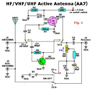 Hf Vhf Uhf Tv Antenna Boster Active Electronic Circuit