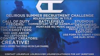 Delirious Clan 2017 Summer Recruitment Challenge
