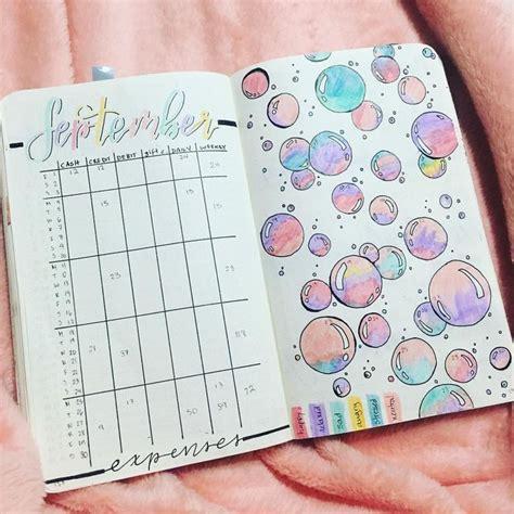 Kalender Dinding 1 2 Sisi Color 2 mood tracker bubbles seifenblasen bullet journal notizbuch kalender und malen
