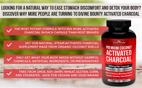 amazoncom organic activated charcoal capsules mg
