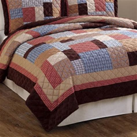 Plaid Patchwork Quilt - rustic plaid patchwork cotton quilt