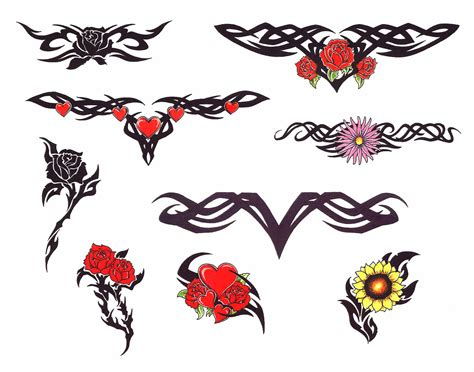 flower heart tattoo designs tribal tattoos and designs page 128