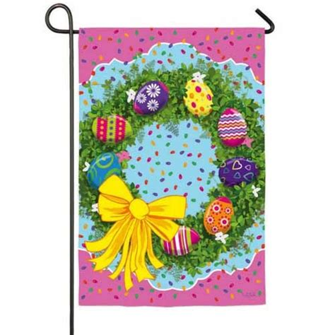 easter garden flag easter egg wreath garden flag easter garden flags