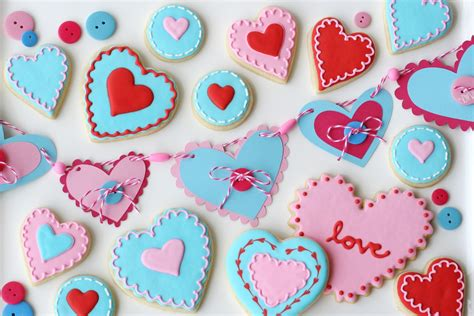 valentines day cookies valentine s day cookies matching banner from glorious