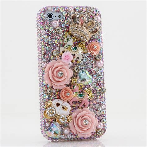 Agen Supplier Murah Iphone 5 5s Flower Princess bling crystals phone for iphone 6 6s iphone 6 6s plus iphone 4 5 5s 5c samsung