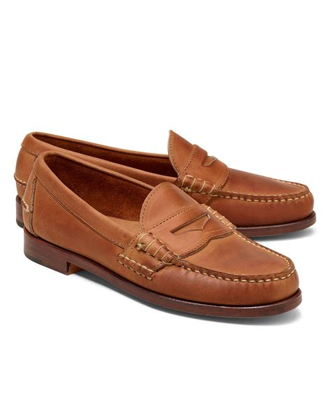 rancourt beefroll loafer lyst brothers rancourt co beef roll loafers