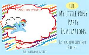 my pony invitation template free printable rainbow dash invitations our