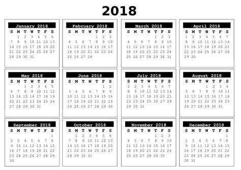 free 2018 month to page calendars free craft downloads