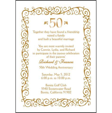 50th anniversary invitations 25 personalized 50th wedding anniversary invitations