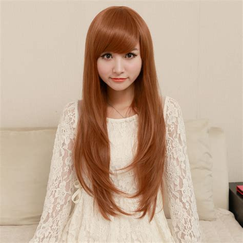 how to fix long hair in upsweep chang straight hair wig wig female oblique micro volume