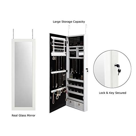 The Door Armoire With Length Mirror by White Length Mirror The Door White Vanity