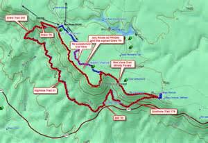 arizona sinkhole map mogollon vista loop hiking arizona hikearizona