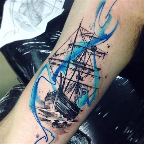 ab tattoos pirat ab tatuaje pirateship ship aquarelle