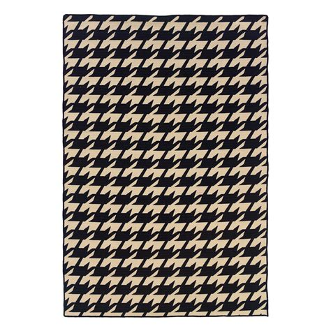 houndstooth area rug linon salonika houndstooth area rug 5 x 8 ft area