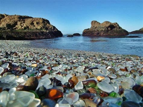 beach of glass glass beach in california places to see in your lifetime