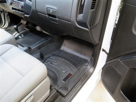 2012 Chevy Silverado Floor Mats weathertech front auto floor mats black weathertech