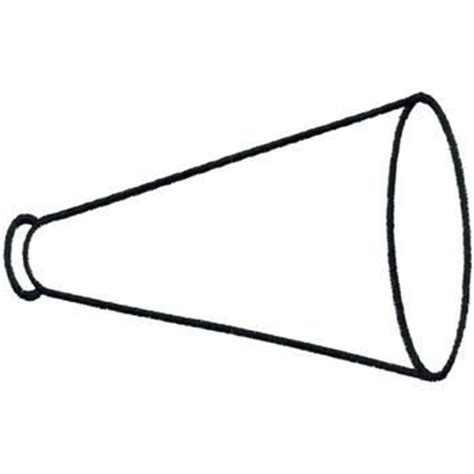 megaphone template printable cheer megaphone outline cheer