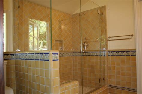 Mediterranean Architectural Style - luxurious spanish tiled shower