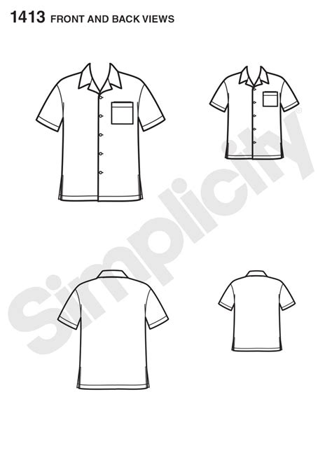Mens Shirt Pattern Easy | simplicity 1413 it s so easy shirt for boys and men