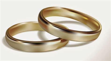 simple wedding rings yellow gold model