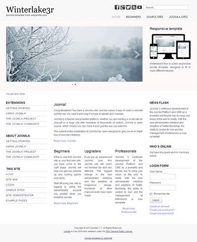 responsive free joomla 3 template a4joomla winterlake3r free