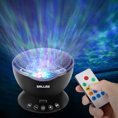 night light projector with music music ocean wave relaxing projector led night light remote