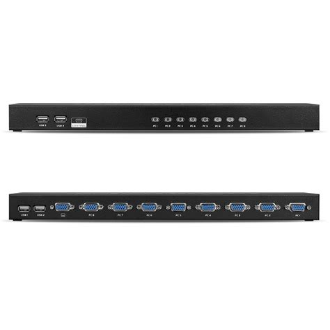 8 kvm switch usb 8 usb kvm switch box adapter manual rack mount with 8