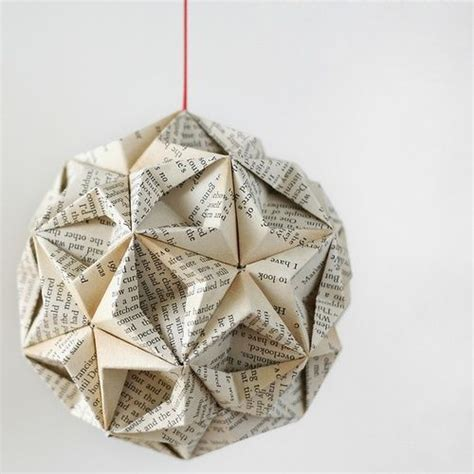 Folded Paper Ornaments - origami ornament