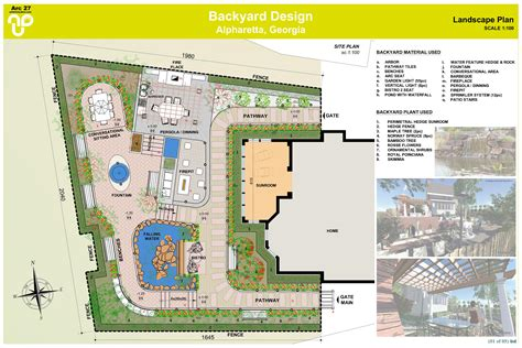 Backyard Plan | backyard design designed by a bd architects backyard design alpharetta us arcbazar