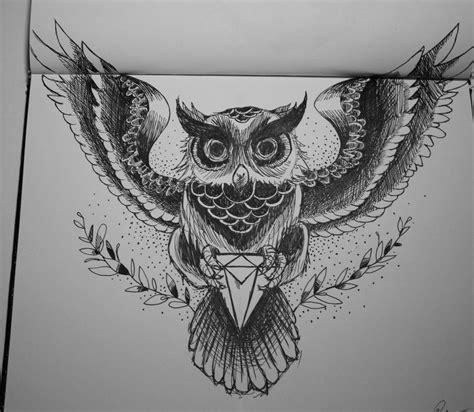 owl tattoo line drawing owl tattoo by ricartolima on deviantart