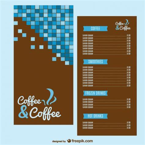 menu layout vector free download coffee menu template vector free download