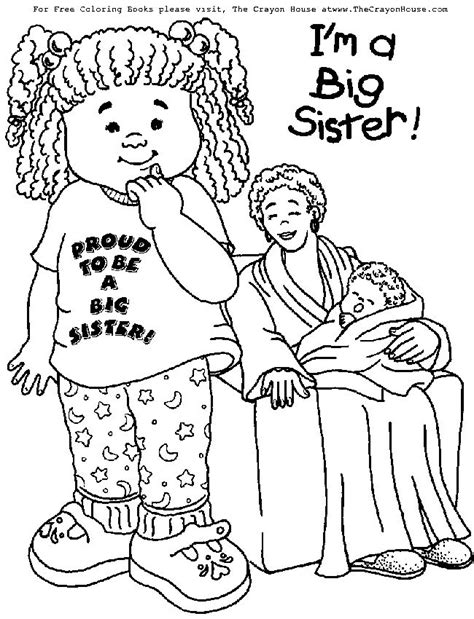coloring pages baby sister 10 best new baby in the house images on pinterest big
