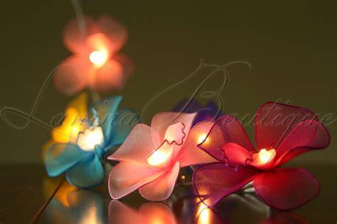 20 Or 35 Led Nylon Orchid Flower String Fairy Lights Floral String Lights