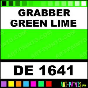 color grabber grabber green lime engine enamel paints de 1641