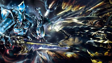 overlord anime wallpaper android cocytus vs lizardman full hd wallpaper and background
