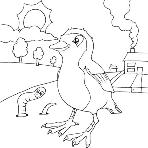 coloring page of a robin bird cute robin coloring page