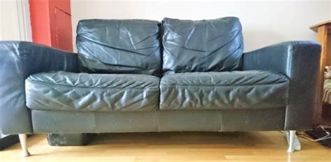 2 Seater Settee Sale by 2 Seater Black Leather Settee For Sale In Clonsilla