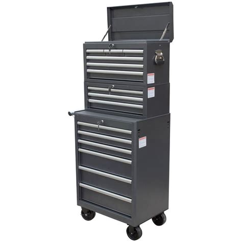 wen 26 in 15 drawer tool chest and cabinet combo black