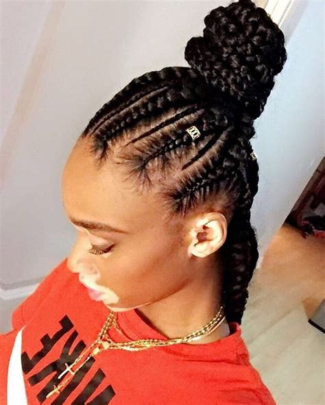 Cornrow Hairstyles For In 2017 by Lovely Everyday Box Braids Bun Hairstyles 2017