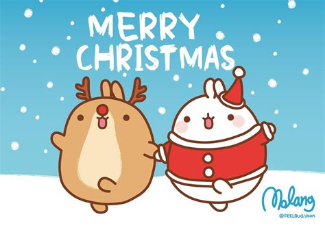 merry molang christmas super cute kawaii
