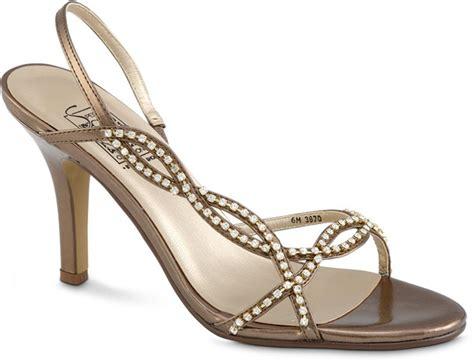 suzettein bronze bridal prom evening shoes med wide ebay