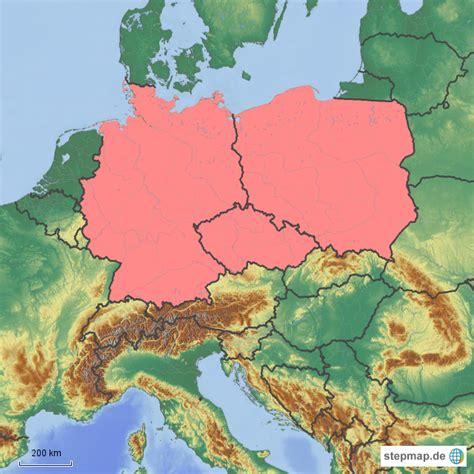 karte deutschland tschechien tschechien polen deutschland geokartenerstellerin