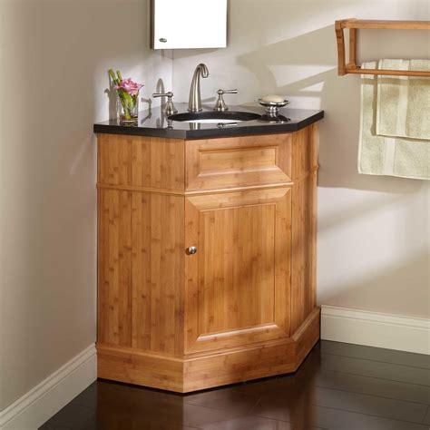 corner vanity top sink 36 quot bridgemill corner bamboo vanity for undermount sink