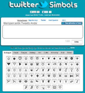 cara membuat nama twitter unik cara membuat symbol unik di twitter fadhlizaky s blog
