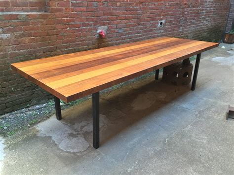 furniture butcher block dining table for sale dining directional mixed woods butcher block dining table manner of milo baughman for sale at 1stdibs