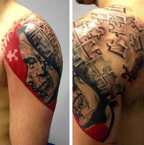 puzzle tattoo man 60 unique puzzle tattoos