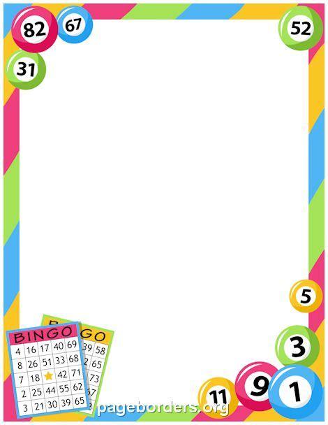 printable bingo border use the border in microsoft word
