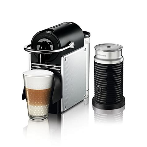 bed bath and beyond nespresso nespresso 174 by delonghi pixie espresso machine bundle with