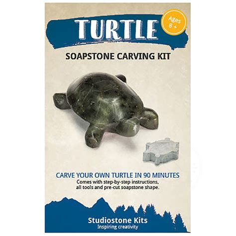 Soapstone Carving Kit - soapstone carving kit turtle s toys learning co